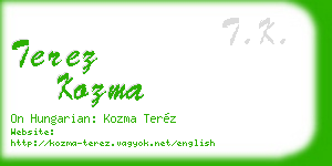 terez kozma business card
